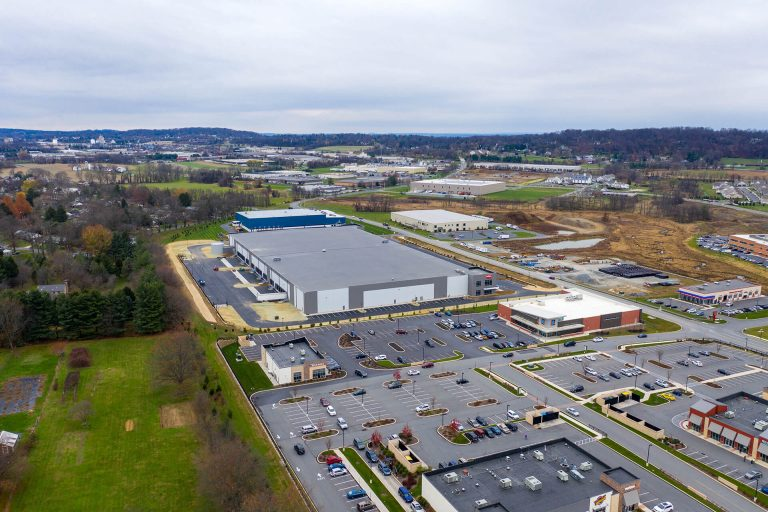 Building 2 at Lime Spring Square - Day time - Aerial - Industrial Property