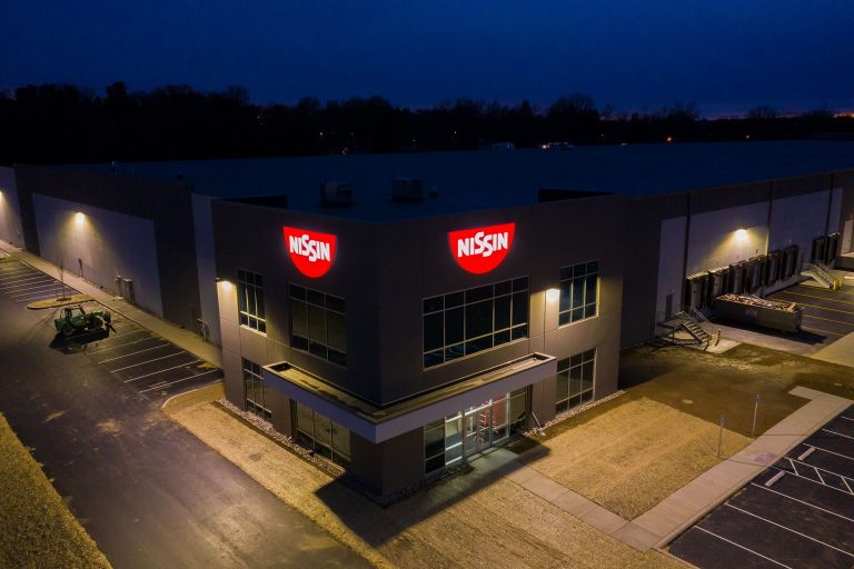Building 2 at Lime Spring Square - Night time - Aerial - Industrial Property
